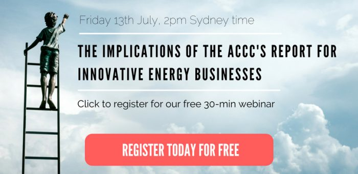 Webinar – The implications of the ACCC's report for innovative energy businesses