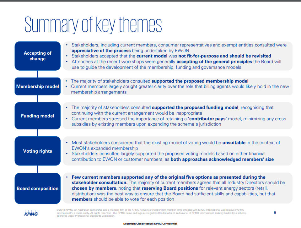 EWON expanded jurisdiction summary of key themes