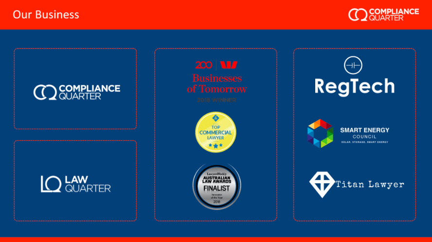 NEM Quarterly Retail Market & Regulation Update screenshot from presentation of awards